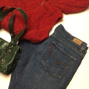Levi Mid Rise Skinny Jeans Medium Wash sz 14 short